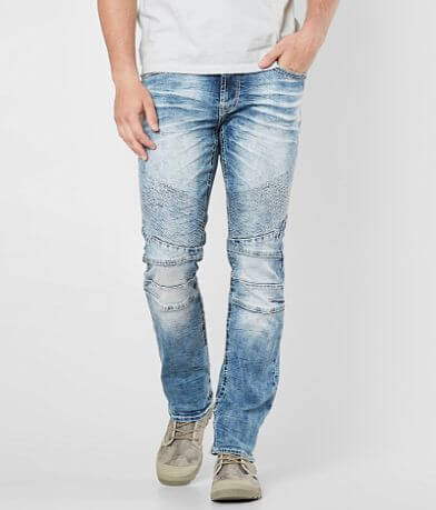 Salvage Havoc Slim Straight Moto Stretch Jean