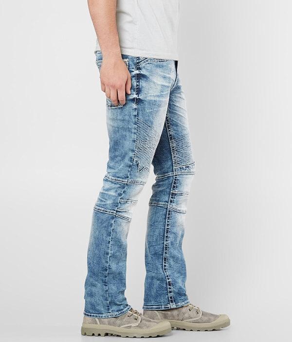 Havoc Slim Stretch Straight Salvage Jean Moto Ad47Aq