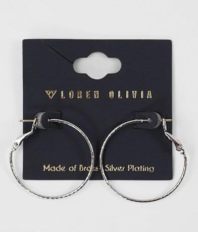 Loren Olivia Plated Brass Hoop Earring