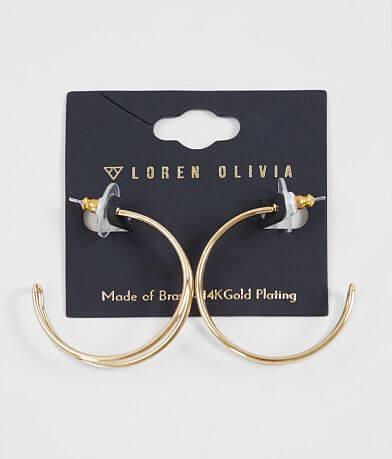 Loren Olivia Metal Hoop Earring
