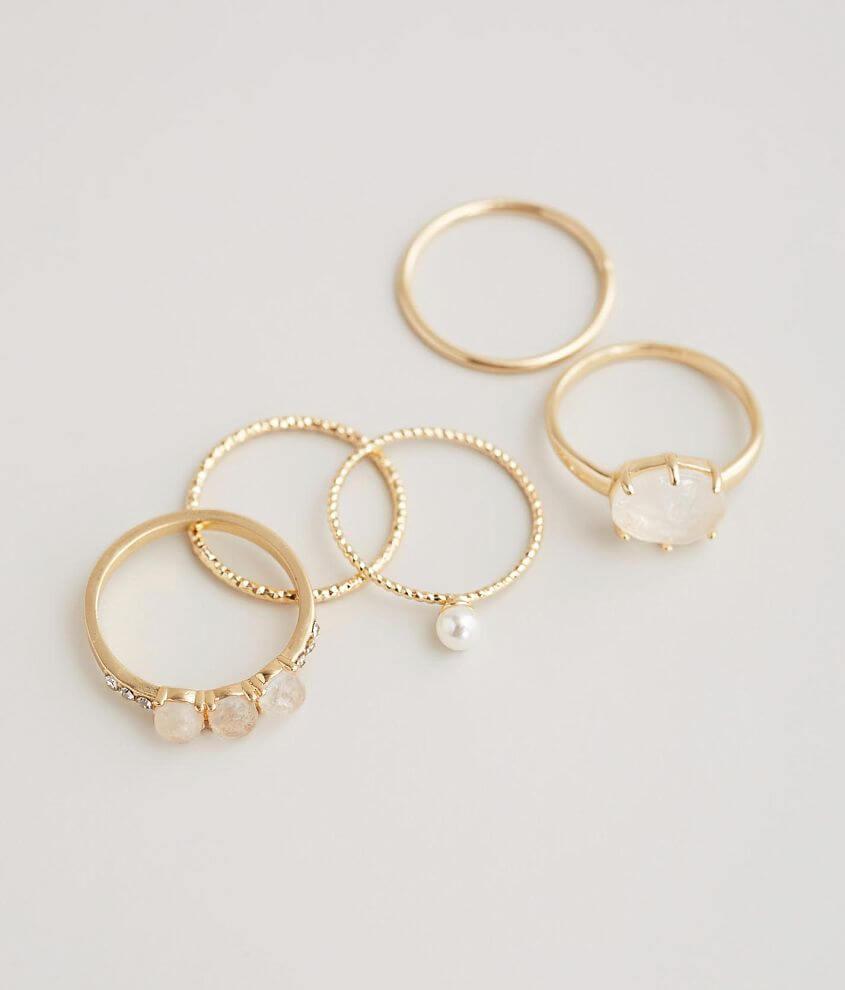 Set of five rings Stone setting measures 3/8\\\
