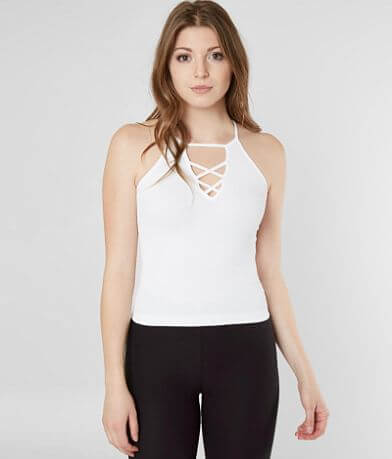 Suzette High Neck Cropped Tank Top
