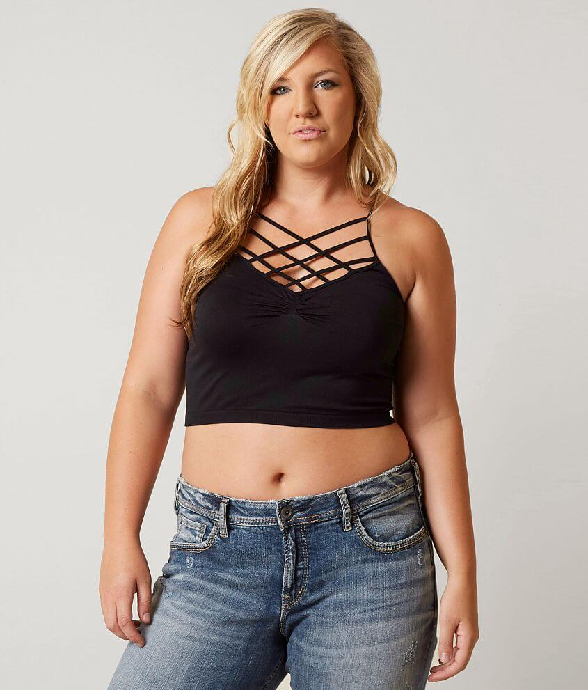 336d518859e92 BKE Strappy Bralette - Plus Size Only - Women s Bandeaus Bralettes ...