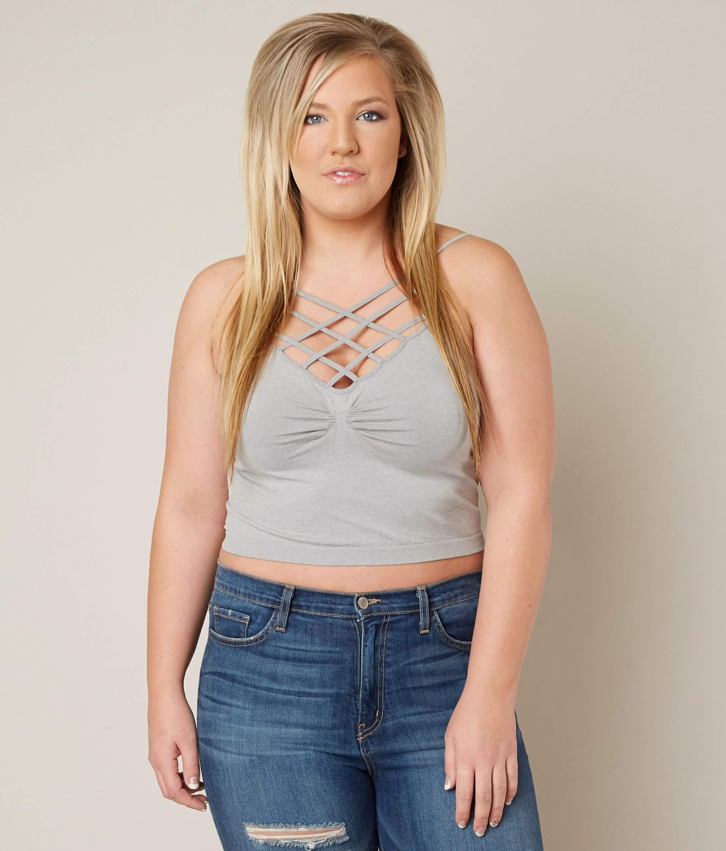 4a95d5541ef Suzette Strappy Bralette - Plus Size Only - Women s Bandeaus ...