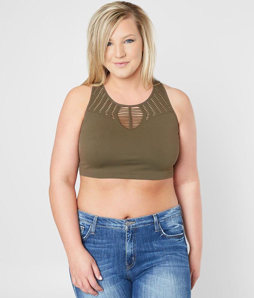 236365fd0c51d Suzette Shredded Bralette - Plus Size Only - Women s Bandeaus ...