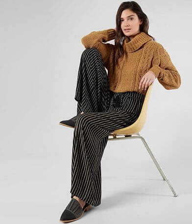 Mustard Seed Striped Wide Leg Pant