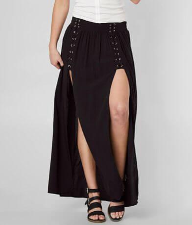 Mustard Seed Solid Maxi Skirt