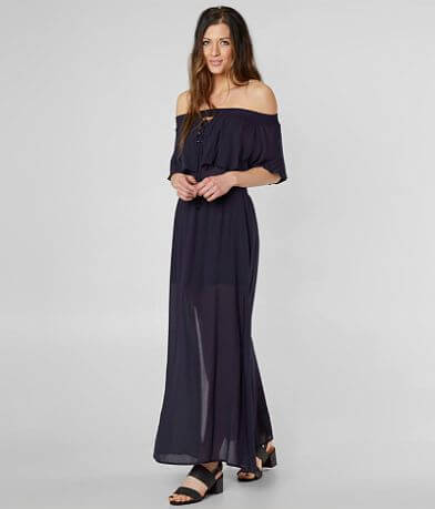 Mustard Seed Off The Shoulder Maxi Dress