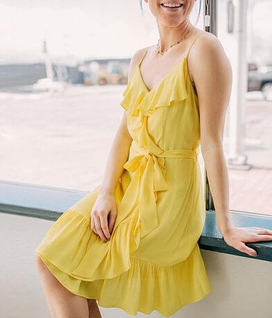 Mustard Seed Ruffle Dress
