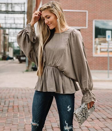 Willow & Root Ruffled Peplum Top