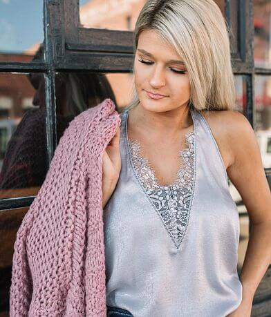 Willow & Root Shimmer Tank Top