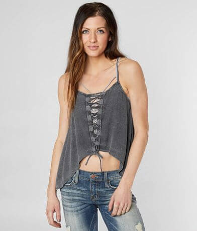 Mustard Seed Lace-Up Tank Top