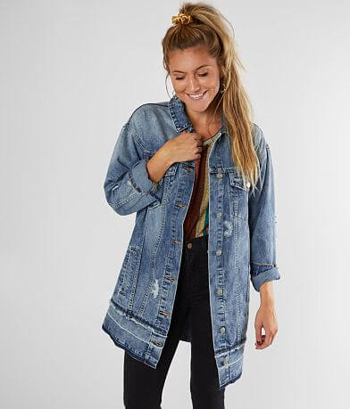 Mustard Seed Destructed Denim Jacket