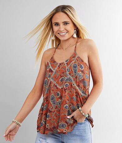 Daytrip Paisley Floral Tank Top