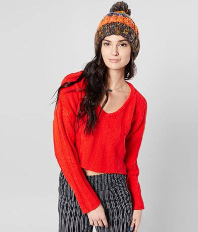 Willow & Root Wide Ribbed Pullover Sweater