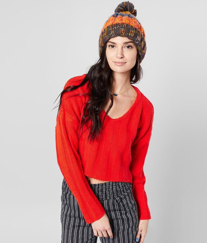 Willow & Root Wide Ribbed Pullover Sweater front view