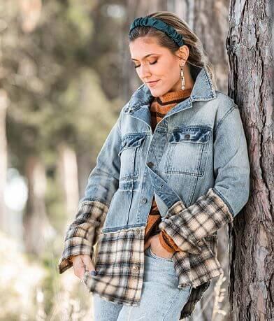 Gimmicks Pieced Flannel Denim jacket