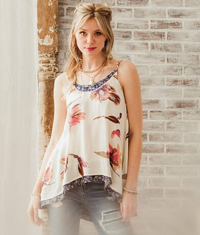 Gimmicks Floral Tunic Tank Top
