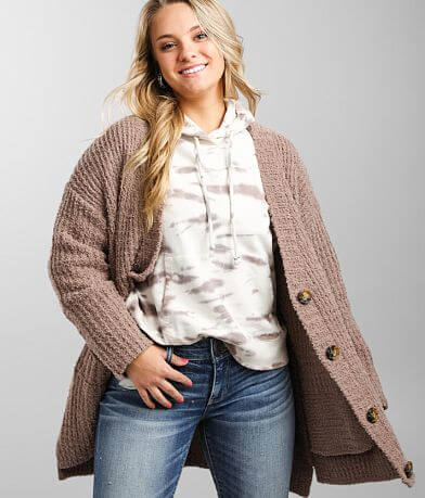 Daytrip Boucle Yarn Cardigan Sweater