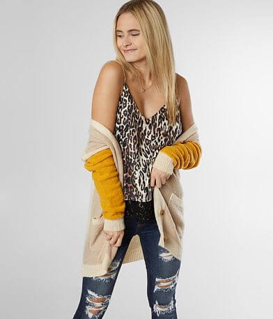 Daytrip Satin Animal Print Tank Top