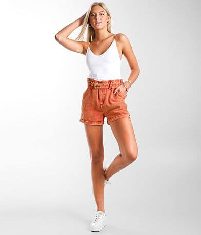 Gilded Intent Washed High Rise Cuffed Short
