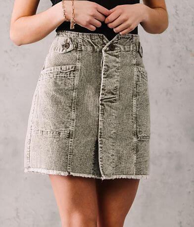 Oli & Hali Washed Corduroy Skirt