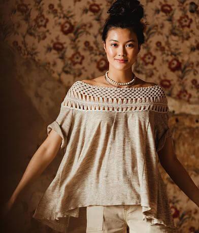 Gimmicks Crochet Yoke Top