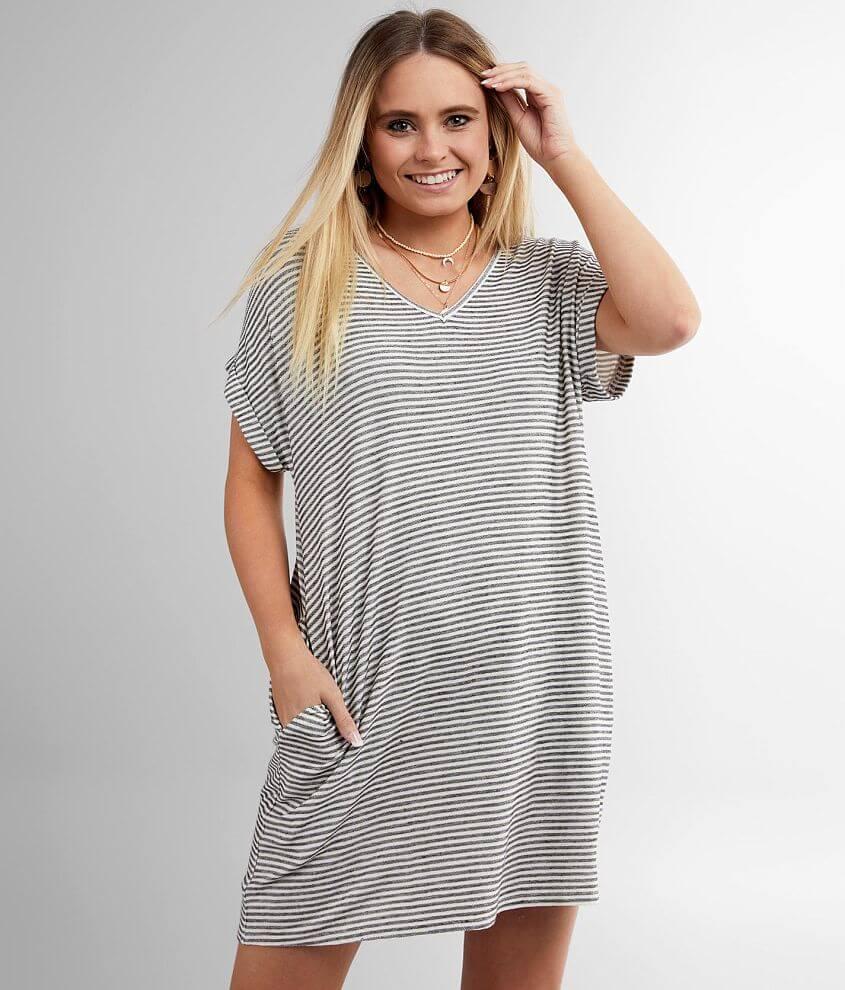 Daytrip Striped Knit Dress front view