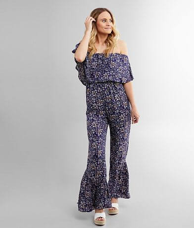 Willow & Root Floral Chiffon Jumpsuit