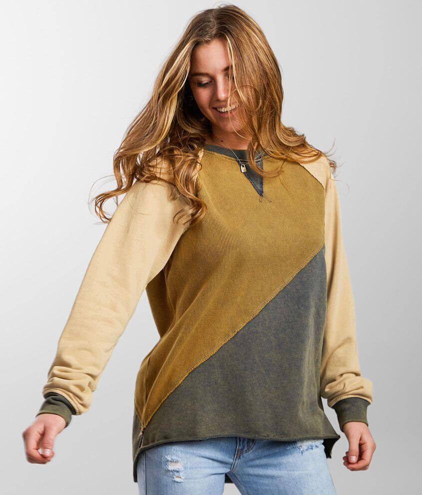 Gilded Intent Pieced Thermal Pullover front view