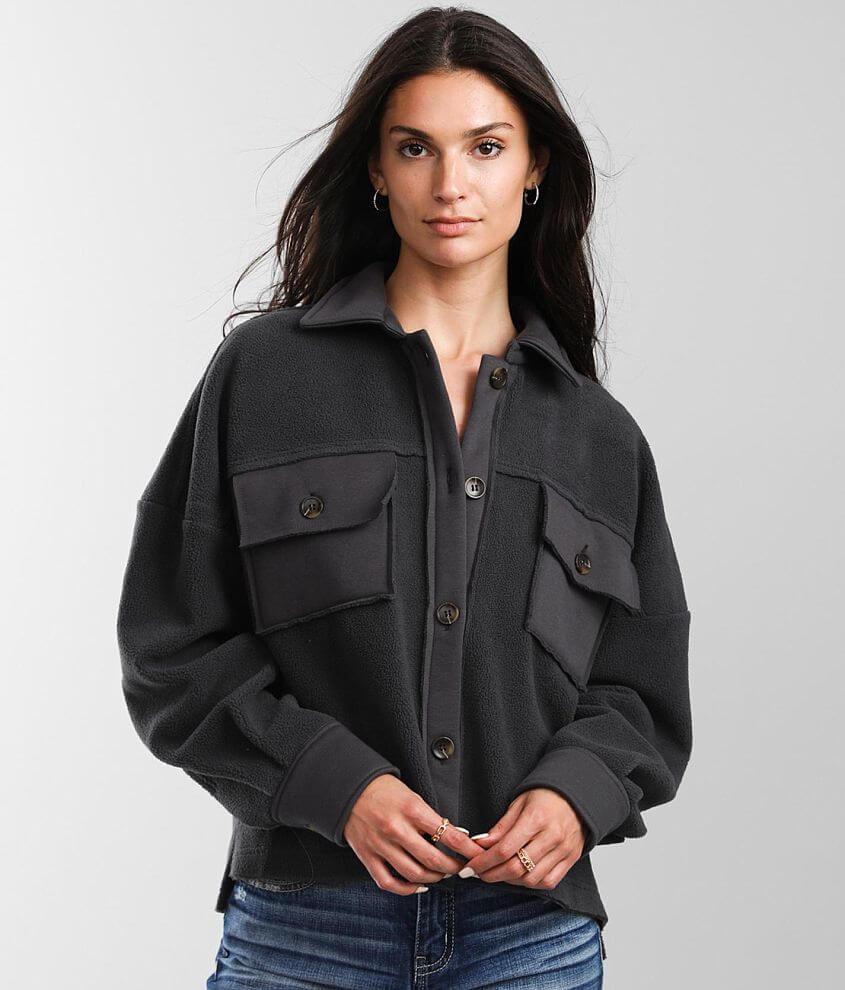 BKE Oversized Fleece Jacket front view