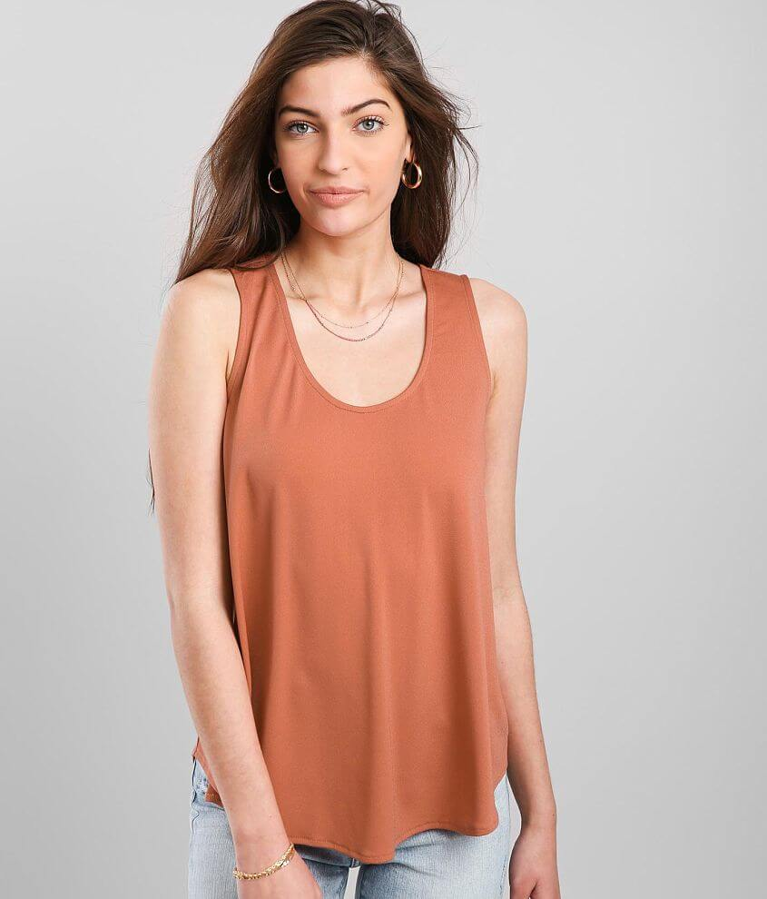 Daytrip Back Lace-Up Tank Top front view