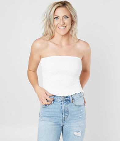 Stylehouse Shirred Tube Top