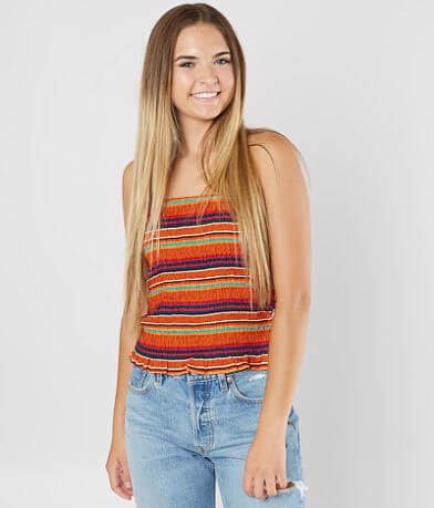 Stylehouse Striped Tube Top