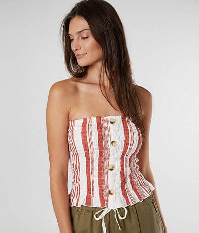 Daytrip Vertical Striped Tube Top