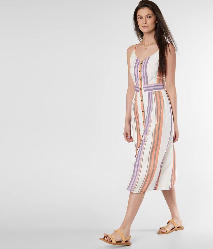 Daytrip Striped Sleeveless Dress front view