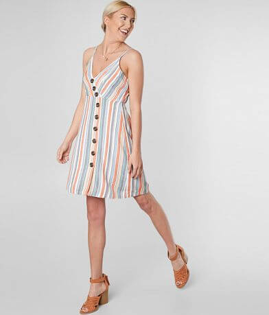 Daytrip Striped Button Down Dress