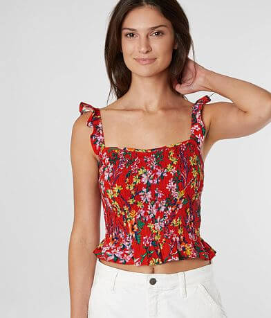 Daytrip Smocked Floral Tank Top