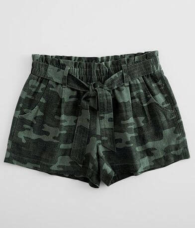 Daytrip Camo Paperbag Short