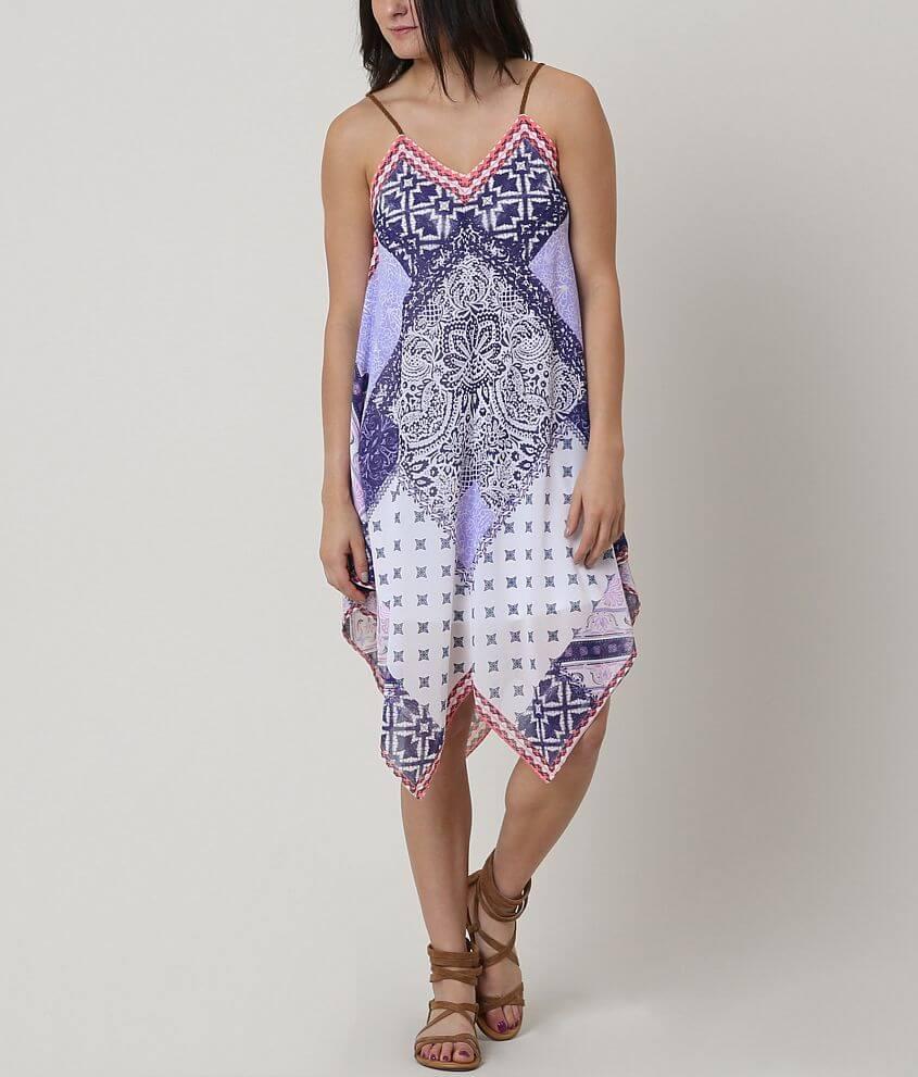 Jolt Printed Dress front view