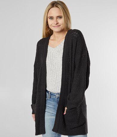 BKE Pointelle Cardigan Sweater
