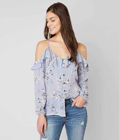 Jolt Cold Shoulder Blouse