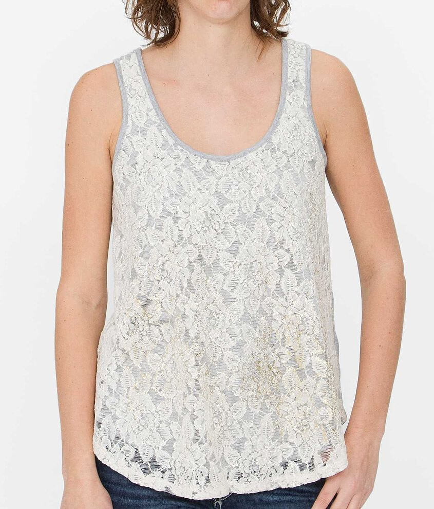 Jolt Heathered Tank Top front view