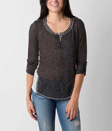 Jolt Pieced Henley Top
