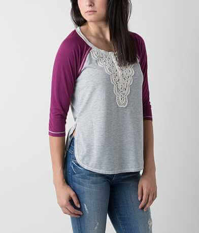 Jolt Heathered Henley Top