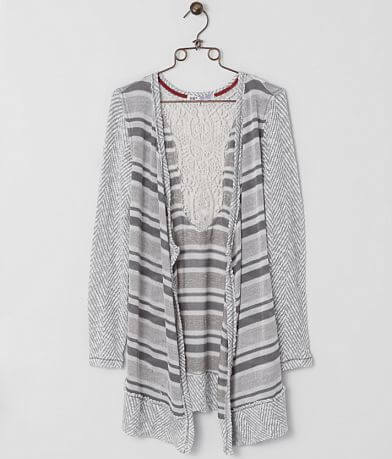Jolt Striped Cardigan Sweater