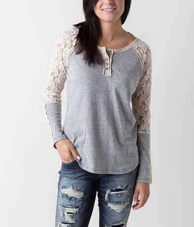 Jolt Triblend Henley Top
