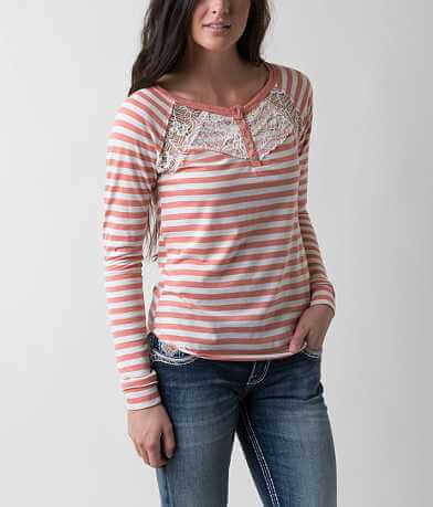 Jolt Striped Henley Top