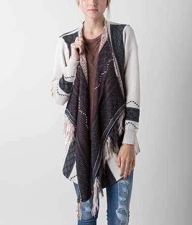 Jolt Open Weave Cardigan Sweater