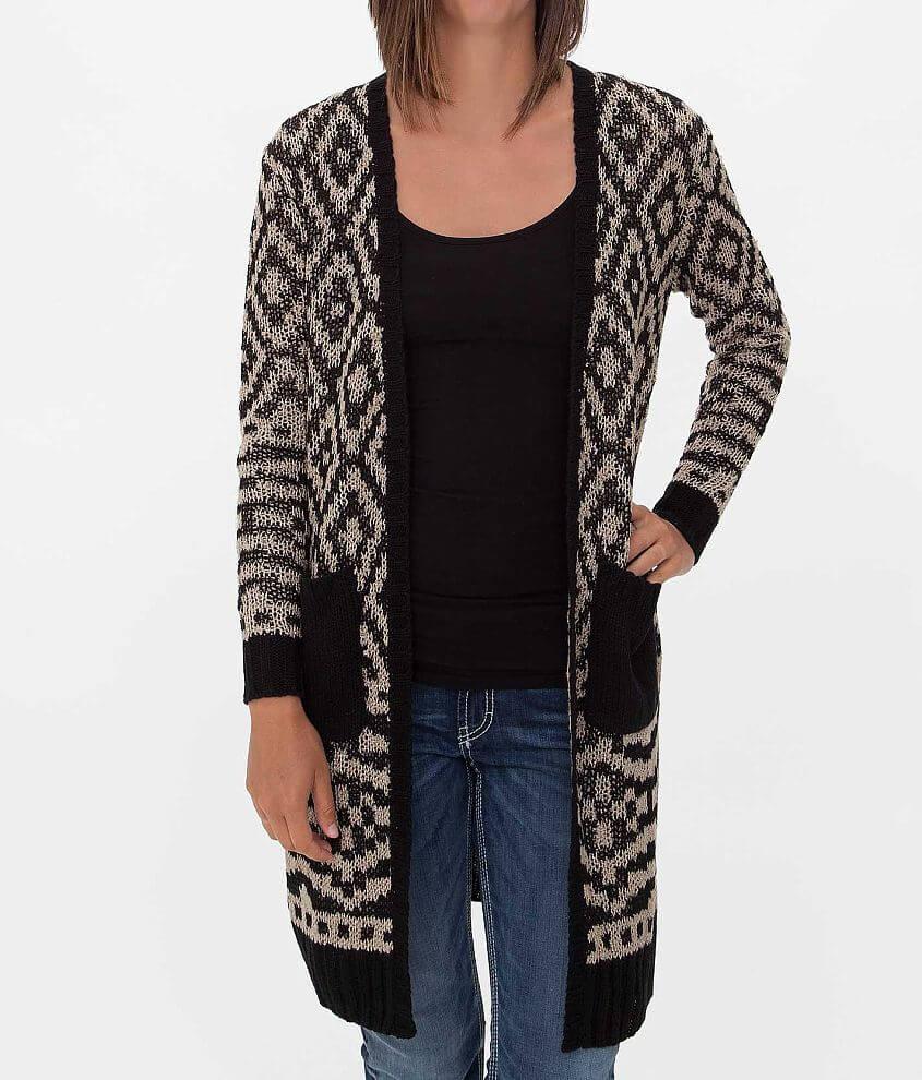 594392dbc1 Jolt Southwestern Cardigan Sweater - Women s Sweaters in Tan Black ...